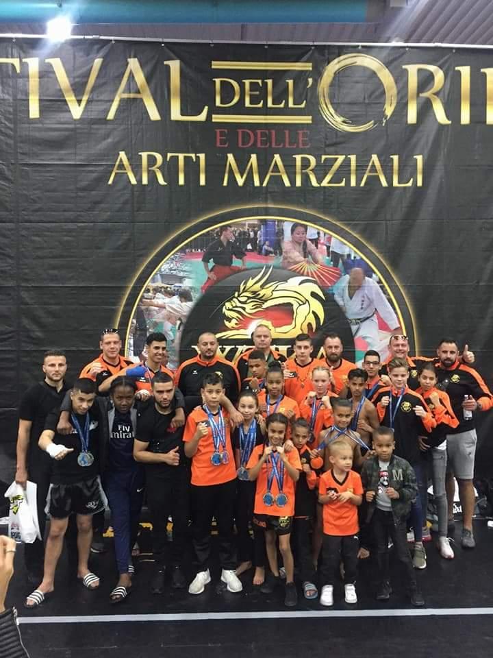 Bruce Ubaghs (3PK2) Zilver op Wk Muay Thai Italië