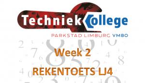 Planning Rekentoets TCPL , Leerjaar 4 wk 2