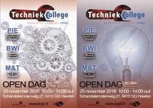 25 november Open Dag Techniek College Parkstad Limburg