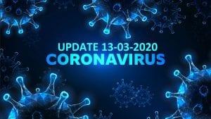 Update Corona-virus 13-03-2020